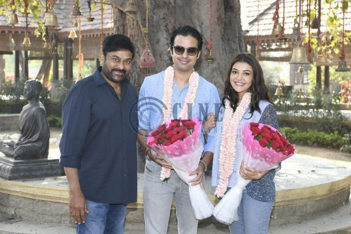 Kajal Aggarwal and Gautam Kitchlu Took Blessings from Chiranjeevi