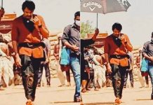 pawan kalyan photo leaked from the sets of pspk 27