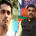 SIDDHARTH CONTER ON VISHNU VARDHAN REDDY COMMENTS